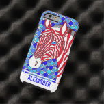 Patriotic Zebra Red White And Blue Mosaic Colorful iPhone 6 Case