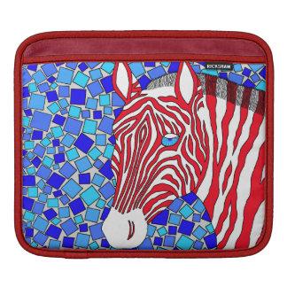 Patriotic Zebra Rickshaw iPad sleeve With Stripes