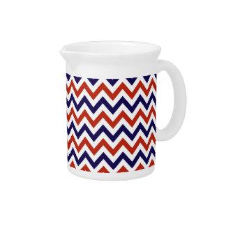 Patriotic Zigs & Zags Beverage Pitcher