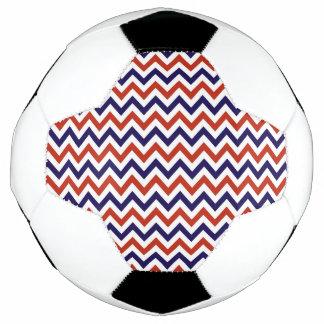 Patriotic Zigs & Zags Soccer Ball