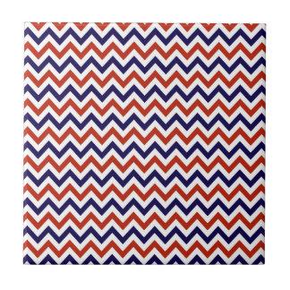 Patriotic Zigs & Zags Tile