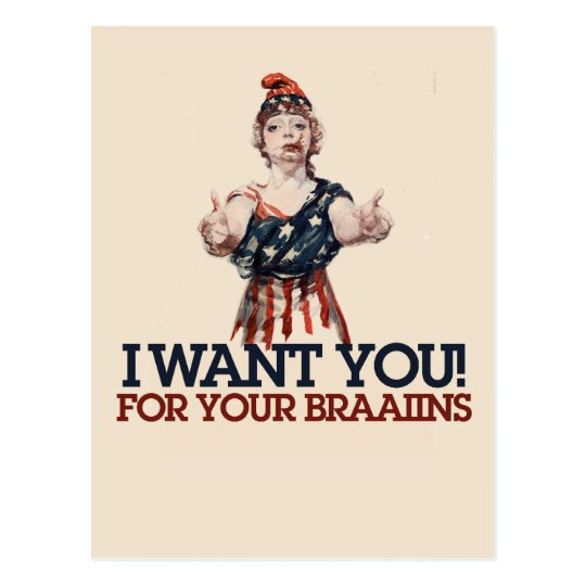 Patriotic Zombie Postcard