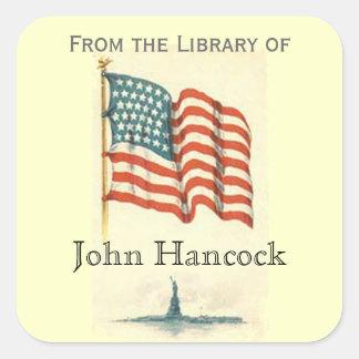 """Patriótico """"de la biblioteca"""" del pegatina"""