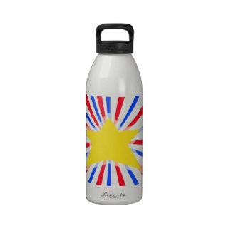 Patriótico el 4 de julio botella de agua reutilizable