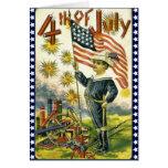 Patriótico el 4 de julio tarjetón