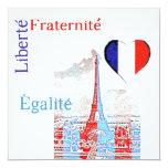 Patriótico francés comunicados personalizados