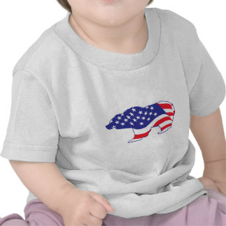 Patriótico-Grisáceo Camiseta