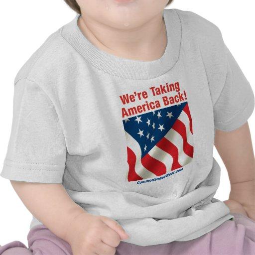 Patriótico - retire América Camisetas