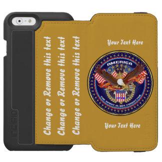 Patriótico vaya ordenan para modificar para funda billetera para iPhone 6 watson
