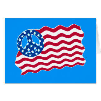 Patriotism and Peace in American Flag Design Greeting Card