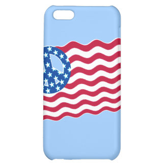 Patriotism and Peace in American Flag Design Cover For iPhone 5C