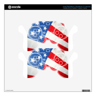 Patriotism Decal For PS3 Controller