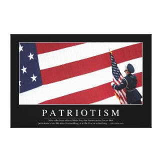 Patriotism: Inspirational Quote Canvas Print