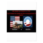 Patriotism or socialism post card