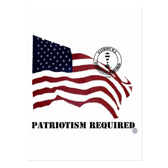 PATRIOTISM REQUIRED POSTCARD