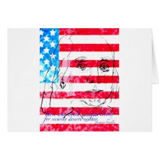 Patriotism with Flag Card