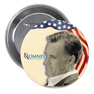 Patriotismo 2012 del Retro-Estilo de Romney Pin Redondo 7 Cm