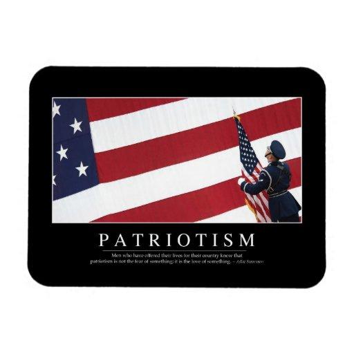 Patriotismo: Cita inspirada Imán De Vinilo