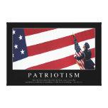 Patriotismo: Cita inspirada Lona Estirada Galerías