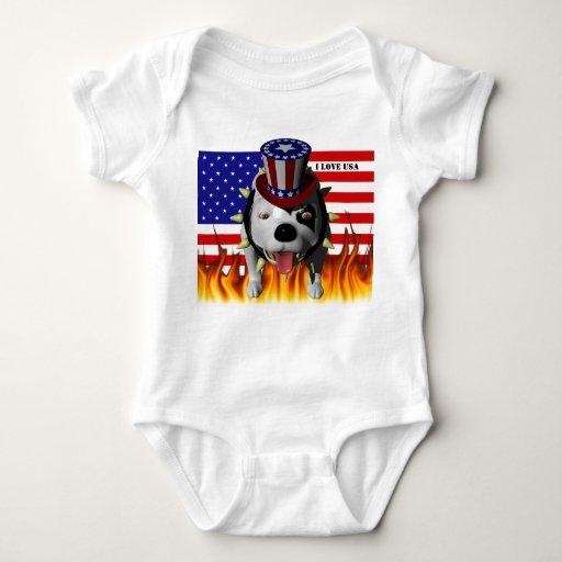 Patriotismo de la demostración de Bobo el su Body Para Bebé