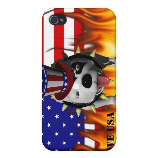 Patriotismo de la demostración de Bobo el su iPhone 4 Cárcasas