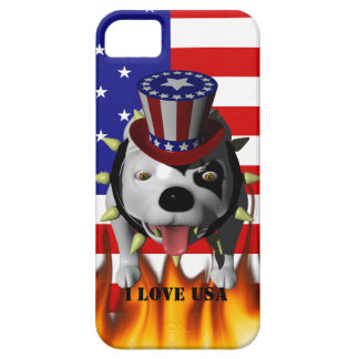 Patriotismo de la demostración de Bobo el su iPhone 5 Carcasas
