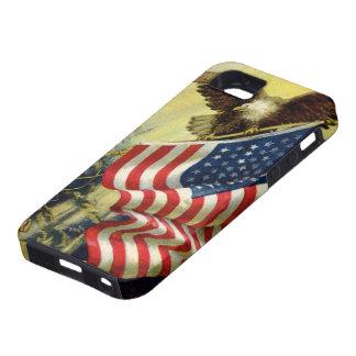 Patriotismo del vintage, bandera americana funda para iPhone SE/5/5s
