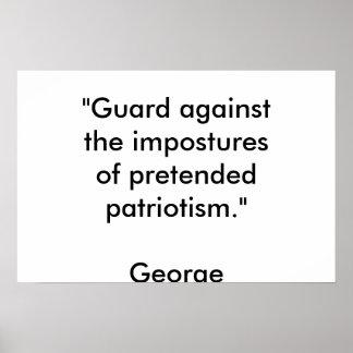 patriotismo fingido poster
