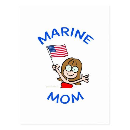 patriotismo marino del cuerpo de infantes de postal