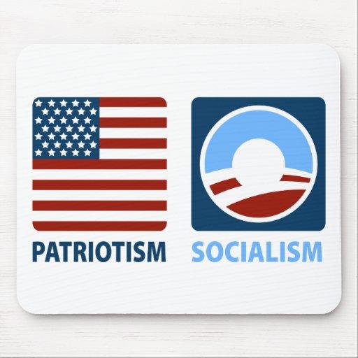Patriotismo o socialismo alfombrilla de ratón