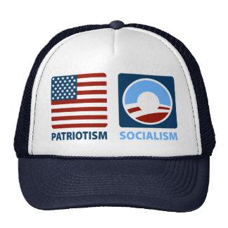 Patriotismo o socialismo gorros bordados