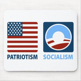 Patriotismo o socialismo alfombrillas de ratón
