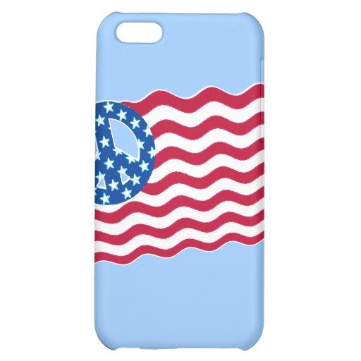Patriotismo y paz en diseño de la bandera american