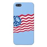 Patriotismo y paz en diseño de la bandera american iPhone 5 cárcasa