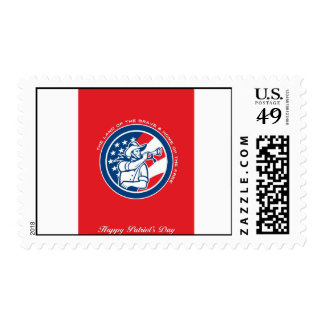 Patriots Day Greeting Card American Cavalry Soldie Postage