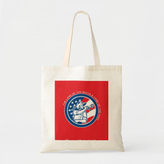 Patriots Day Greeting Card American Cavalry Soldie Tote Bag