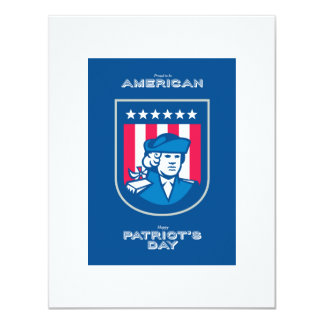 Patriots Day Greeting Card American Patriot Bust S