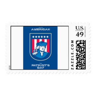 Patriots Day Greeting Card American Patriot Bust S Postage