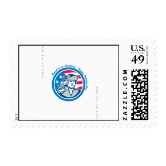 Patriots Day Greeting Card American Patriot Bust S Stamp