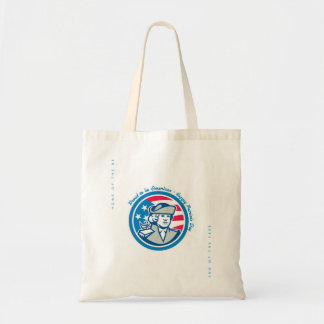 Patriots Day Greeting Card American Patriot Bust S Tote Bag