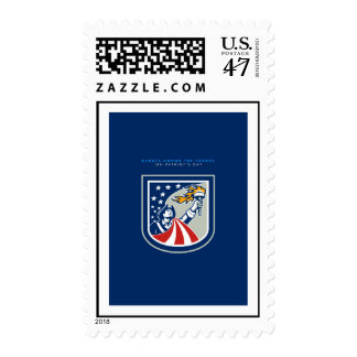 Patriots Day Greeting Card American Patriot Holdin Postage