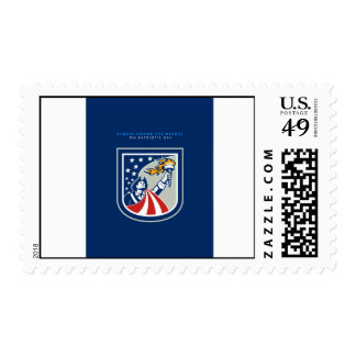 Patriots Day Greeting Card American Patriot Holdin Stamp
