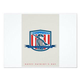 Patriots Day Greeting Card American Patriot Minute