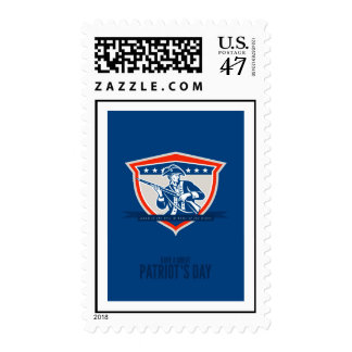 Patriots Day Greeting Card American Patriot Muske. Stamp
