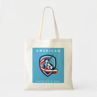 Patriots Day Greeting Card American Patriot Soldie Tote Bag