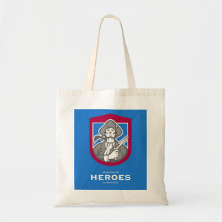 Patriots Day Greeting Card American Patriot With F Tote Bag