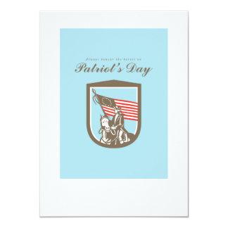 Patriots Day Greeting Card American Revolutionary