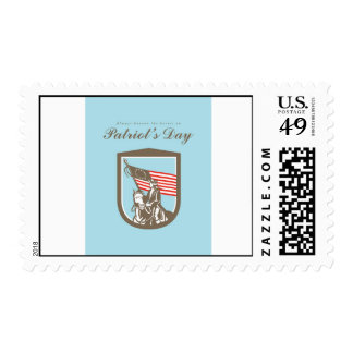 Patriots Day Greeting Card American Revolutionary Postage