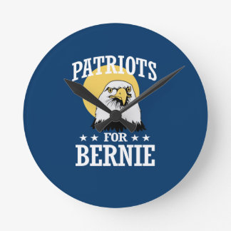 PATRIOTS FOR BERNIE SANDERS ROUND CLOCK
