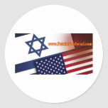 Patriots for Israel Classic Round Sticker